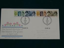 Great Britain 1986 Birtday Of Her Majesty The Queen FDC VF - 1981-1990 Dezimalausgaben