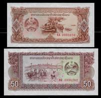 LAOS BANKNOTE - 2 NEW NOTES 20 KIP + 50 KIP (1979) P#28r-29r REPLACEMENT UNC (NT#04) - Laos