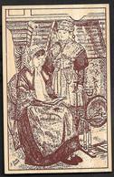 France Postcard Printed On Wood Veneer  Les Gas Du Tsarollais Folk Group From Charolles Folklore Spinning Wheel - Non Classés