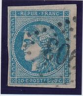 20 C Bleu N° 45 Type II B. - 1870 Emissione Di Bordeaux