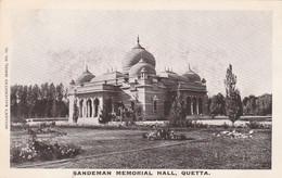 India Postcard Quetta Sandeman Memorial Hall - India