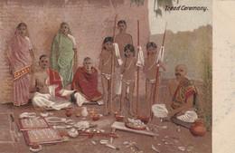 India Postcard Tread Ceremony - Tanjore Dancing Girls - Hindu Beauty - India