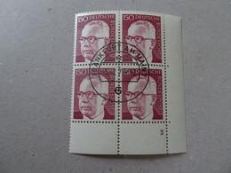Bund Michel 730 Heinemann Viererblock Gestempelt Mit Gummi (6037) - Used Stamps