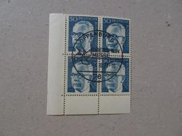 Bund Michel 640 Heinemann Viererblock Gestempelt Mit Gummi (5986) - Used Stamps