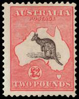 "MNH] AUSTRALIA 1913 | £2 Black And Rose, Wmk ""Wide Crown"" | Signed A. Diena | Provenance: | The Romano Padoan Collection - Non Classificati"