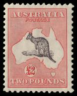 "MH] AUSTRALIA 1934 | £2 Black And Rose, Wmk ""Mult Crown And C Of A"" | Provenance: | The Romano Padoan Collection | Cert. - Non Classificati"