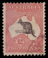 "Used] AUSTRALIA 1913 | £2 Black And Rose, Wmk ""Wide Crown"" | Provenance: | The Romano Padoan Collection | Used.......... - Non Classificati"