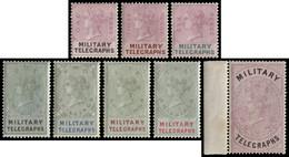 MH] BECHUANALAND 1884 | Military Telegraph. Complete Set Of 8 Values | Provenance: | The Romano Padoan Collection | Cert - Non Classificati