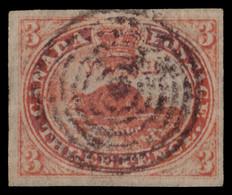 Used] COLONY OF CANADA 1851 | 3c. Orange-vermilion | Signed A. Diena | Provenance: | The Romano Padoan Collection | Used - Usati