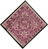 Used] NOVA SCOTIA 1851 | 1s. Deep Purple | Provenance: | The Romano Padoan Collection | Cert. A. Diena | Used..........( - Nuovi