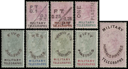 MH] EGYPT 1886 | Military Telegraph. Complete Set Of 8 Values Handstamped Locally In Egypt | Provenance: | The Romano Pa - Non Classificati