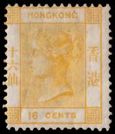 "MLH] HONG KONG 1877 | 16c. Yellow, Wmk ""Crown CC"" | Provenance: | The Romano Padoan Collection | MLH..........(SG 22 £2, - Non Classificati"