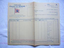 Connaissement Vierge Compagnie Charles Le Borgne Sté Fécampoise De Navigation - Trasporti