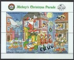 PK424 GRENADA CARTOONS WALT DISNEY MICKEY'S CHRISTMAS PARADE 1988 1KB MNH - Disney