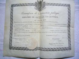 Diplôme De Bachelier ès Lettres 1819  Boyev Benoît Académie De Paris - Diplomi E Pagelle