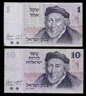 ISRAEL BANKNOTE - 2 USED BANKNOTES 1973-1978 VF (NT#04) - Israel