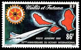 WALLIS ET FUTUNA 1980 - Yv. PA 101 **   Cote= 6,00 EUR - Avion Concorde Et Rotary International  ..Réf.W&F23184 - Nuovi