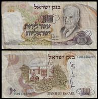 ISRAEL BANKNOTE - 10 LIROT 1968 P#35 F/VF (NT#04) - Israel