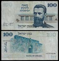 ISRAEL BANKNOTE - 100 LIROT 1973 P#41 F/VF (NT#04) - Israel
