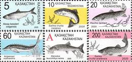Kazakhstan 2020 Definitives Red Book Of Kazakhstan Fishes 6v MNH - Fische