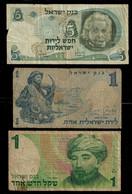 ISRAEL BANKNOTE - 3 USED NOTES F (NT#04) - Israel