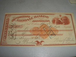 CAMBIALE NEW ORLEANS NATIONAL BANK ASSOCIATION 1873 - United States
