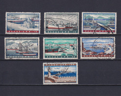 GREECE 1958, Sc# C74-C80, Air Mail, Harbors, Architecture, Used - Neufs
