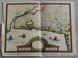 Carte Le Bourdelois Saint André Moulin De Gajac Lesparre Pointe De Grave Laboratoires MARINIER Paris - Carte Geographique