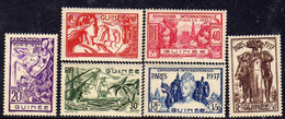 Guinée Française N° 119 / 24 X Exposition Internationale De Paris, La  Série Des  6 Valeurs Trace De Charnière, TB - Nuevos