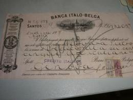 CAMBIALE BANCA ITALO BELGA 1918 - Unclassified