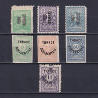 THRACE GREECE 1919-1920, Sc# NJ1-NJ8, Part Set, Postage Due, MH/Used - Thrace