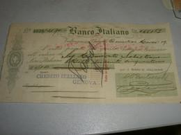 CAMBIALE BANCO ITALIANO VALPARAISO - Unclassified
