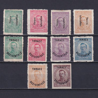 THRACE GREECE 1920, Sc# N16-N25, MH/NG - Thrakien