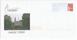 PAP Enveloppe Timbre Lourdes Jubilé 2000  N° 3083 ** La Poste Sur Le Timbre - PAP : Bijwerking /Luquet
