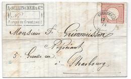 Moselle (Creutzvald) L 1gr Aigle Obl. CREUZWALD  1880 - Elzas-Lotharingen