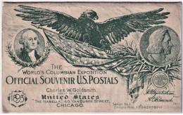 "STATI UNITI 1893 CHICAGO OFFICIAL SOUVENIR U.S. POSTAL "" THE WORLD'S COLUMBIAN EXPOSITION "" NUOVA - RARA - Chicago"