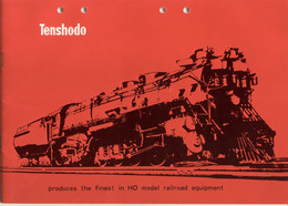 Catalogue TENSHODO 1972 Finest In HO Model Railroad - Messing Models - En Japonais Avec Titres En Anglais - Andere
