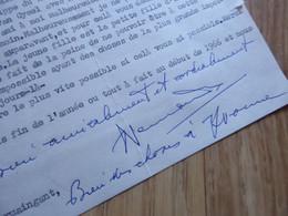 DUC De NEMOURS Charles D'ORLEANS (1905-1970) Fils HENRIETTE BELGIQUE. Autographe - Autographs