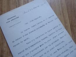 Joseph PAUL BONCOUR (1873-1972) PRESIDENT Conseil SFIO [ Exposition Ingres ] AUTOGRAPHE - Autographs