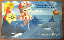 MOMENTS CRITIQUES N°6  REQUIN SCHARK 50U TELECARTE  RÉF PHONECOTE F1266K DU 06/03 CARTE PHONECARD FRANCE TELECOM - 2003