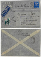 Netherlands 1936 Airmail Cover From Amsterdam To Florianópolis Brazil Postmark Free Of Censorship - Postal History