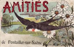 Amitiés De Pontailler Sur Saone Illustrateur H C   Hirondelle  Marguerite - Altri Comuni