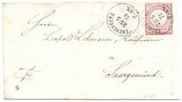 Moselle L 1gr Aigle Obl. ENCHENBERG  1874 (RR) - Elzas-Lotharingen