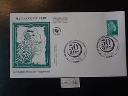"""FRANCE 2020 MARIANNE L'ENGAGÉE LETTRE VERTE SURCHARGÉE """"50 ANS""""  OBLITERATION PREMIER JOUR  04 11 2020  ENVELOPPE F.D.C. - 2010-...."""