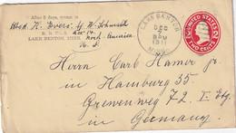 USA 1911   ENTIER POSTAL/GANZSACHE/POSTAL STATIONARY  LETTRE DE LAKE BENTON - 1901-20