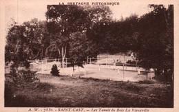 CPA - St CAST - Les Tennis Du Bois De La Vieuxville - Edition A.Waron - Saint-Cast-le-Guildo