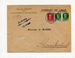 !!! 1ERE GUERRE MONDIALE, BAVAROIS, OCCUPATION ALLEMANDE DE LILLE, LETTRE DE 1917 POUR LAMBERSART - WW I