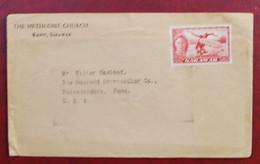 Enveloppe De Kapit ( Sarawak ) Pour Philadelphie ( U.S.A. ) Avec Timbre De SARAWAK Danseur Dayak 8cts Rouge - British Indian Ocean Territory (BIOT)