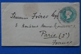 C INDIA BELLE LETTRE 1900 VOYAGEE   A PARIS  + AFFRANCHISSEMENT INTERESSANT - Unclassified