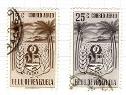 YV+ Venezuela 1952 Mi 813-14 Miranda - Venezuela